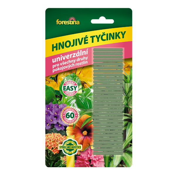 Univerzální hnojivé tyčinky pro pokojové rostliny 30 ks